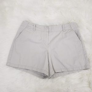 J. Crew Low Fit Solid Cotton Chino Shorts Grey